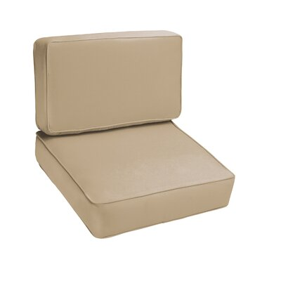 Kaplan Outdoor Lounge Chair Cushion Color: Beige