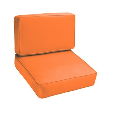 Kaplan Outdoor Lounge Chair Cushion Color: Bright Orange