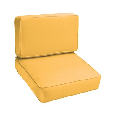Kaplan Outdoor Lounge Chair Cushion Color: Butter Yellow