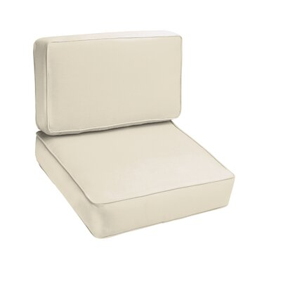 Kaplan Outdoor Lounge Chair Cushion Color: Ivory