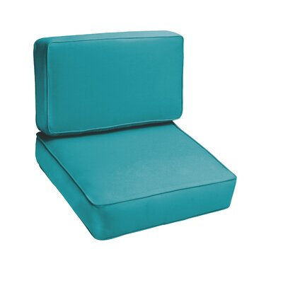 Kaplan Outdoor Lounge Chair Cushion Color: Aqua Blue