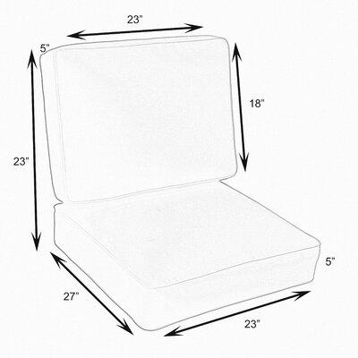 Kaplan 2 Piece Outdoor Chair Cushion Set