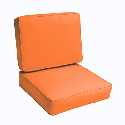 Kaplan 2 Piece Outdoor Chair Cushion Set Color: Bright Orange