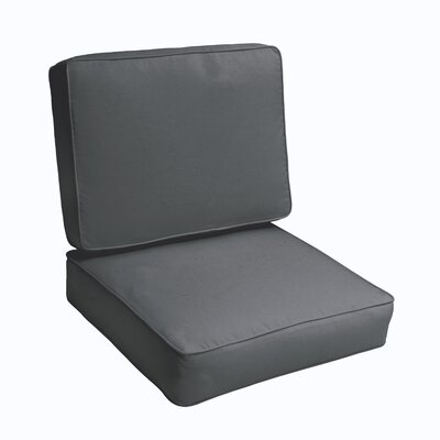 Kaplan 2 Piece Outdoor Chair Cushion Set Color: Charcoal