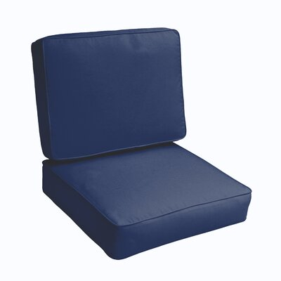 Kaplan 2 Piece Outdoor Chair Cushion Set Color: Dark Blue