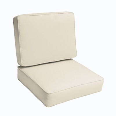 Kaplan 2 Piece Outdoor Chair Cushion Set Color: Ivory