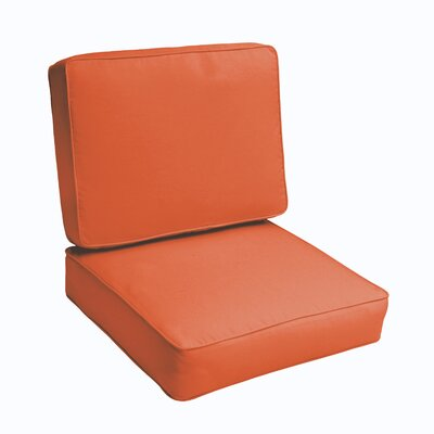 Kaplan 2 Piece Outdoor Chair Cushion Set Color: Mandarin Orange