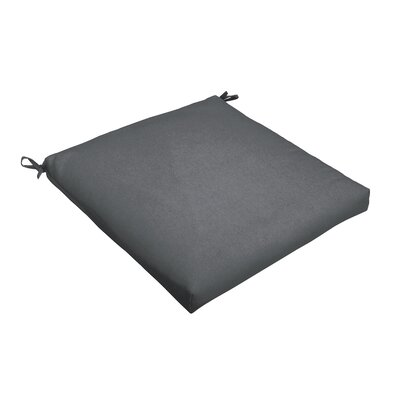 Outdoor Dining Chair Cushion Color: Charcoal, Size: 20 L x 20 W