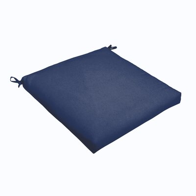 Outdoor Dining Chair Cushion Color: Dark Blue, Size: 19 L x 19 W