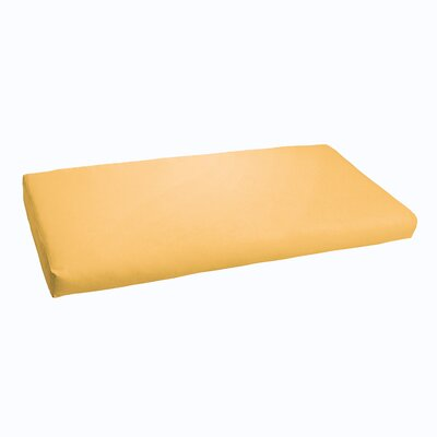 Kaplan Indoor/ Outdoor Bench Cushion Fabric: Butter Yellow, Size: 60