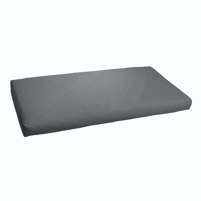 Kaplan Indoor/ Outdoor Bench Cushion Fabric: Charcoal, Size: 60