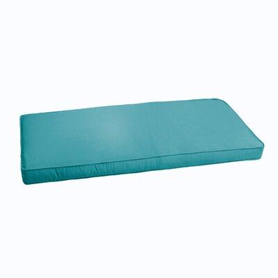 Kaplan Indoor/ Outdoor Bench Cushion Fabric: Aqua Blue, Size: 60