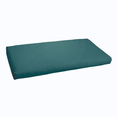 Kaplan Indoor/ Outdoor Bench Cushion Fabric: Teal, Size: 60