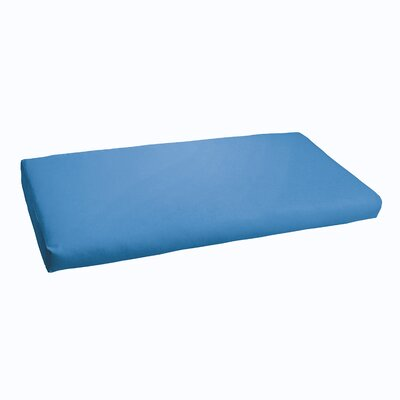 Kaplan Indoor/ Outdoor Bench Cushion Fabric: Light Blue, Size: 60