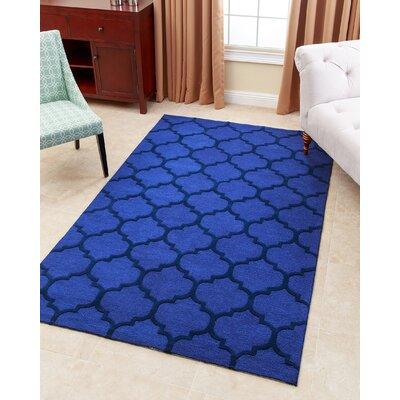 Karas Hand-Tufted Blue Area Rug Rug Size: 8 x 10