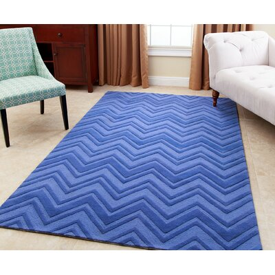 Karcher Hand-Tufted Blue Area Rug Rug Size: 5 x 8
