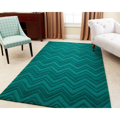 Karcher Hand-Tufted Emerald Green Area Rug Rug Size: 8 x 10