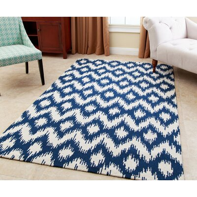 Kania Hand-Tufted Royal Blue Area Rug Rug Size: 3 x 5