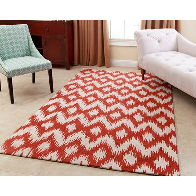 Kania Hand-Tufted Burnt Orange Area Rug Rug Size: 5 x 8