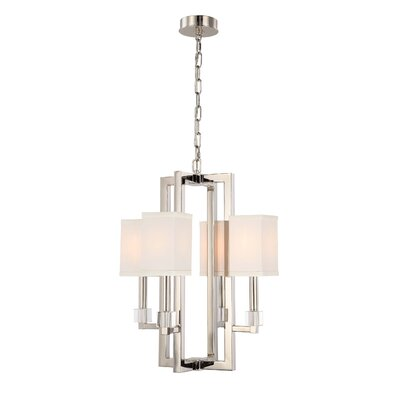 Dunkelberger 4-Light Shaded Chandelier