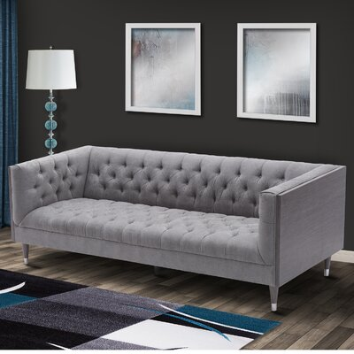 Kaneshiro Chesterfield Sofa Upholstery: Mist