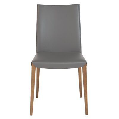 Fontaine Genuine Leather Upholstered Dining Chair Upholstery: Anthracite