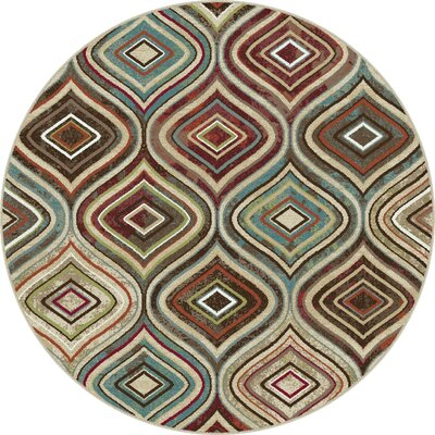 Kew Gardens Brown/Beige Area Rug Rug Size: Rectangle 53 x 73