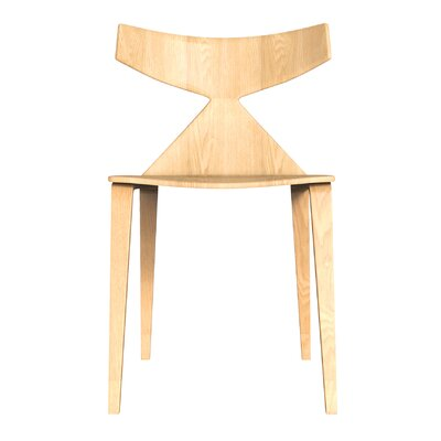 Kleopatra Solid Wood Dining Chair Color: Oak