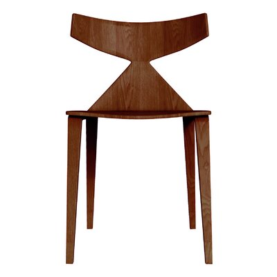 Kleopatra Solid Wood Dining Chair Color: Walnut