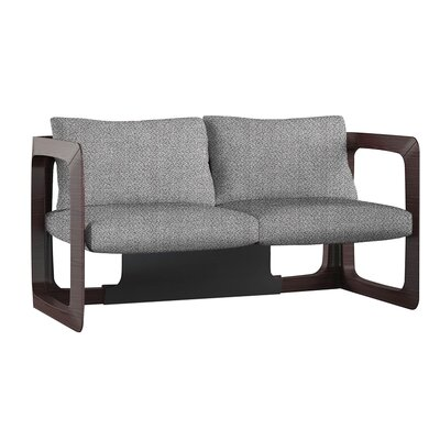 Kleopatra Upholstered Wood Frame Loveseat