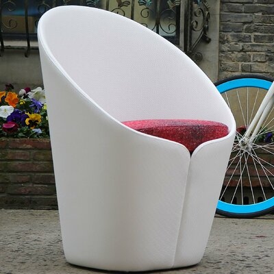 Kleopatra Butterfly Fiber Glass Petal Lounge Chair Finish: White