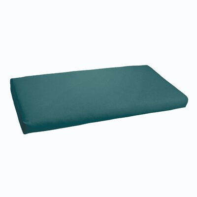 Indoor/ Outdoor Bench Cushion Color: Teal