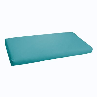 Indoor/ Outdoor Bench Cushion Color: Aqua Blue