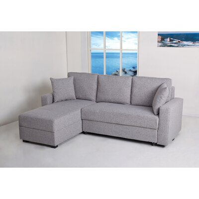 Keshawn Reversible Sleeper Sectional Upholstery: Ash