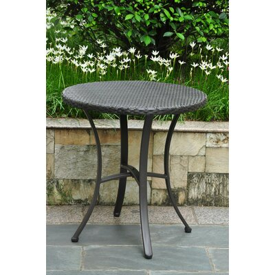 Katzer Bistro Table Finish: Black Antique