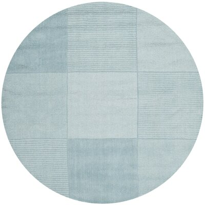 Neptune Blue Outdoor Area Rug Rug Size: Round 5