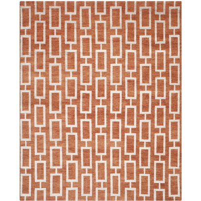 Oakely Rust Rug Rug Size: 8 x 10
