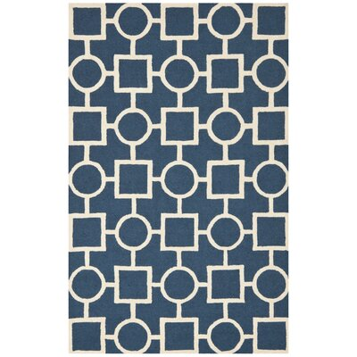 Harbin Blue Navy / Ivory Area Rug Rug Size: Rectangle 5 x 8