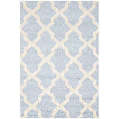 Harbin Light Blue / Ivory Area Rug Rug Size: 76 x 96