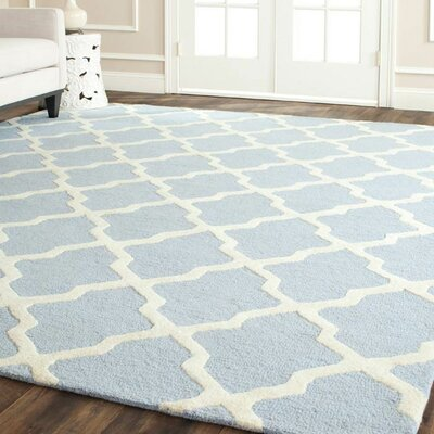 Sugar Pine Hand-Tufted Wool Blue/Ivory Area Rug Rug Size: Rectangle 26 x 4