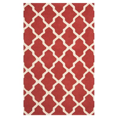 Harbin Rust / Ivory Area Rug Rug Size: Rectangle 76 x 96