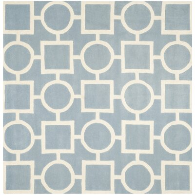 Averett Blue Rug Rug Size: Square 7