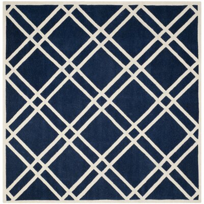 Averett Dark Blue Rug Rug Size: Square 7