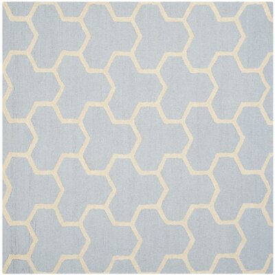 Harbin Light Blue/Ivory Area Rug Rug Size: Square 8