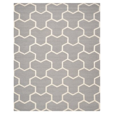 Harbin Silver/Ivory Area Rug Rug Size: 6 x 9