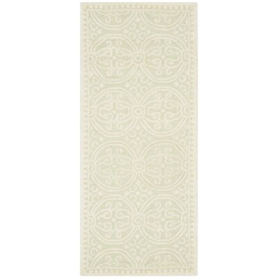 Diona Light Green/Ivory Area Rug Rug Size: Runner 26 x 8