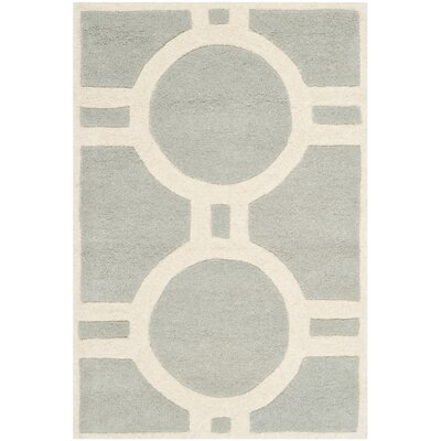 Averett Grey / Ivory Rug Rug Size: Rectangle 2 x 3