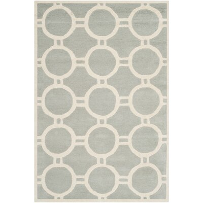 Averett Grey / Ivory Rug Rug Size: Rectangle 4 x 6