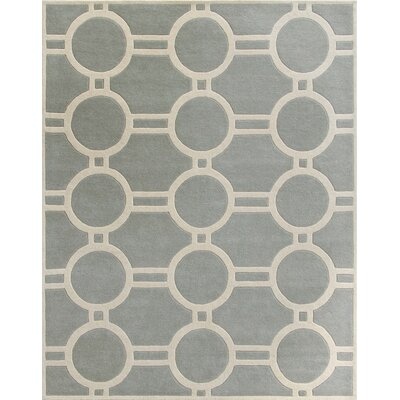 Averett Grey / Ivory Rug Rug Size: Rectangle 8 x 10