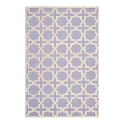Harbin Lavender/Ivory Area Rug Rug Size: 6 x 6